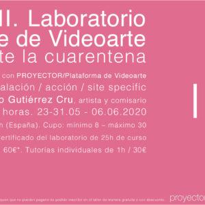 23.05-06.06.2020. LAP II – Laboratorio Online de Videoarte durante la cuarentena