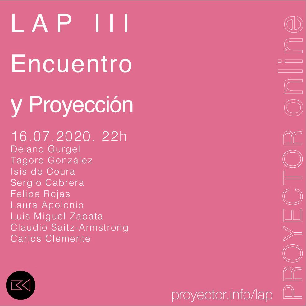 16.07.2020. Presentación y Proyección del LAP III
